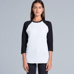 Ladies Raglan Baseball Top Thumbnail