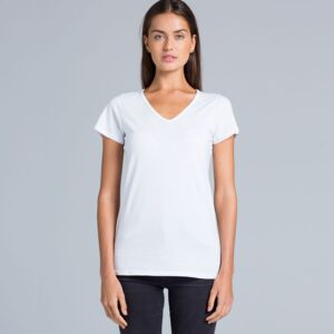 ASColour Ladies 'Bevel' V-Neck Tshirt (w/ More Print Position Options) Thumbnail